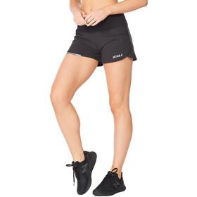 "2XU Aero 4"" Shorts Women, black/silver reflective"